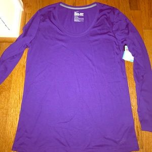 Nike DriFit Purple Long Sleeve